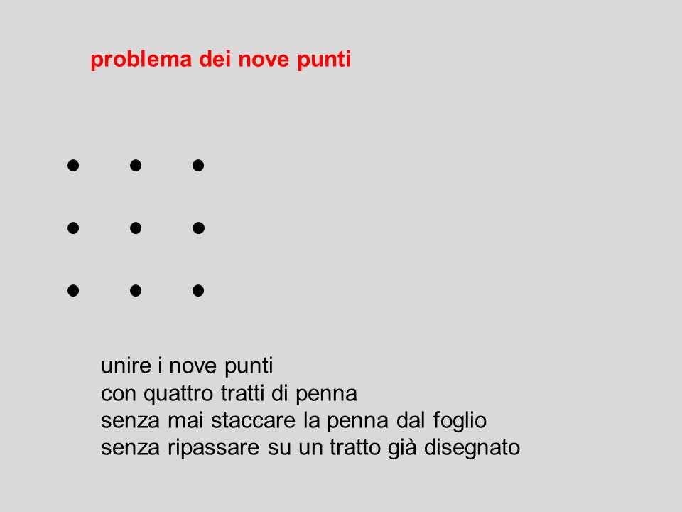 Soluzione di problemi e creativit ppt video online - Unire i numeri dei punti ...