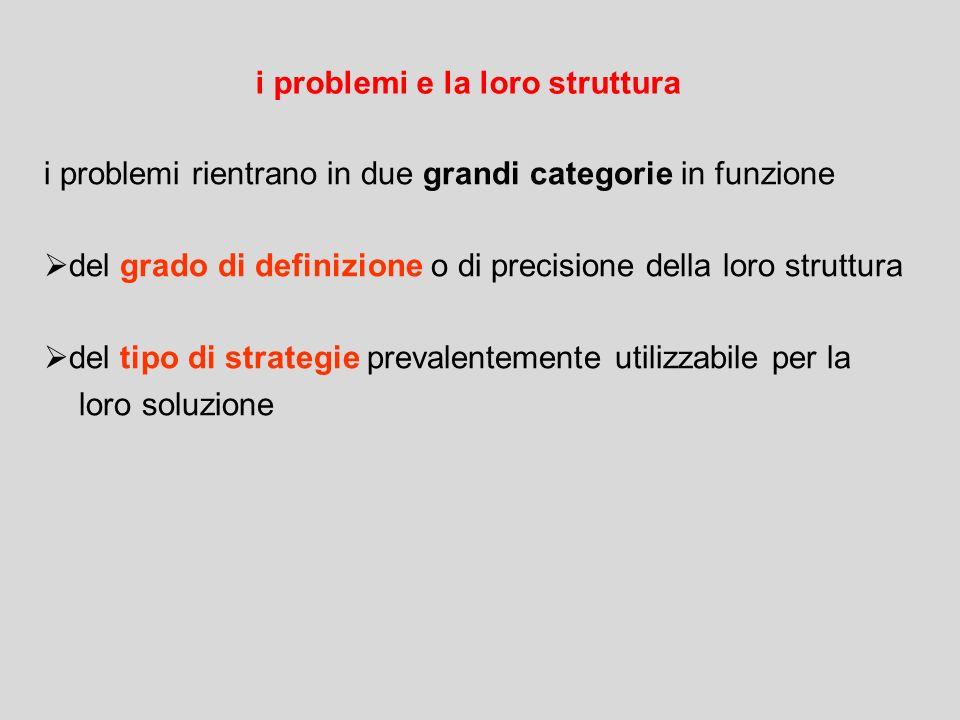 i problemi e la loro struttura