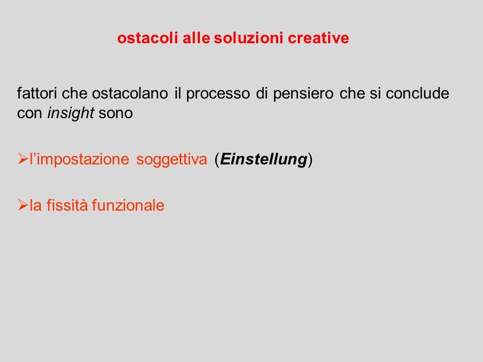 ostacoli alle soluzioni creative