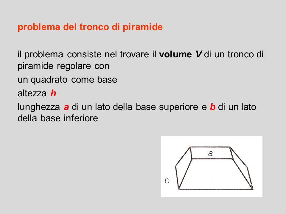 problema del tronco di piramide