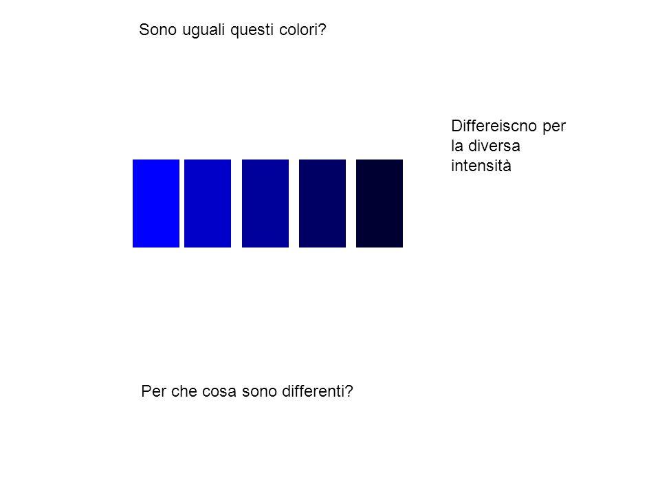 Sono uguali questi colori