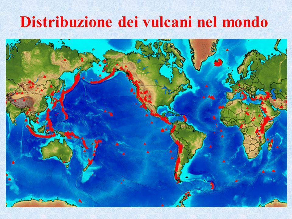 Distribuzione dei vulcani nel mondo