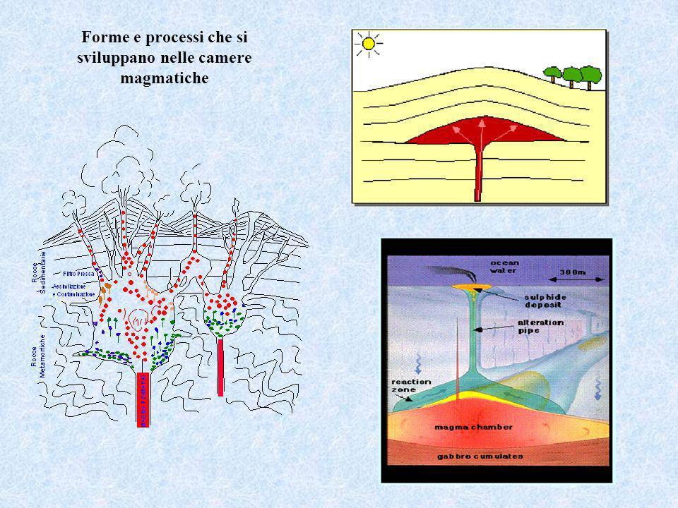 Forme e processi che si sviluppano nelle camere magmatiche