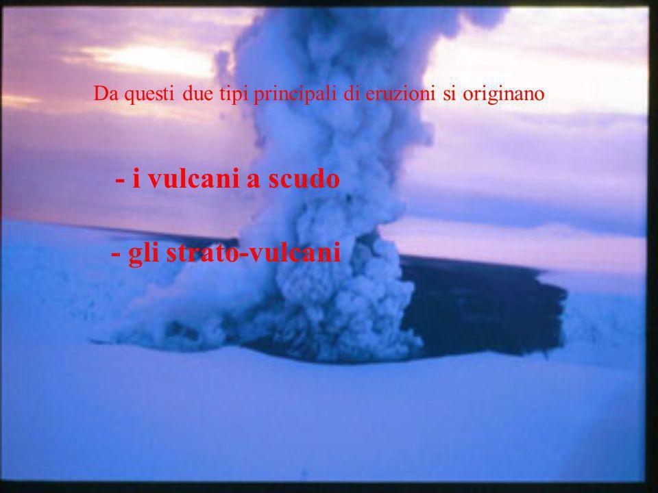 - i vulcani a scudo - gli strato-vulcani