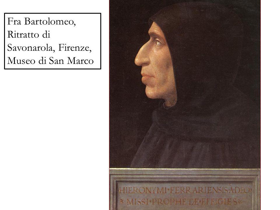 Fra Bartolomeo, Ritratto di Savonarola, Firenze, Museo di San Marco