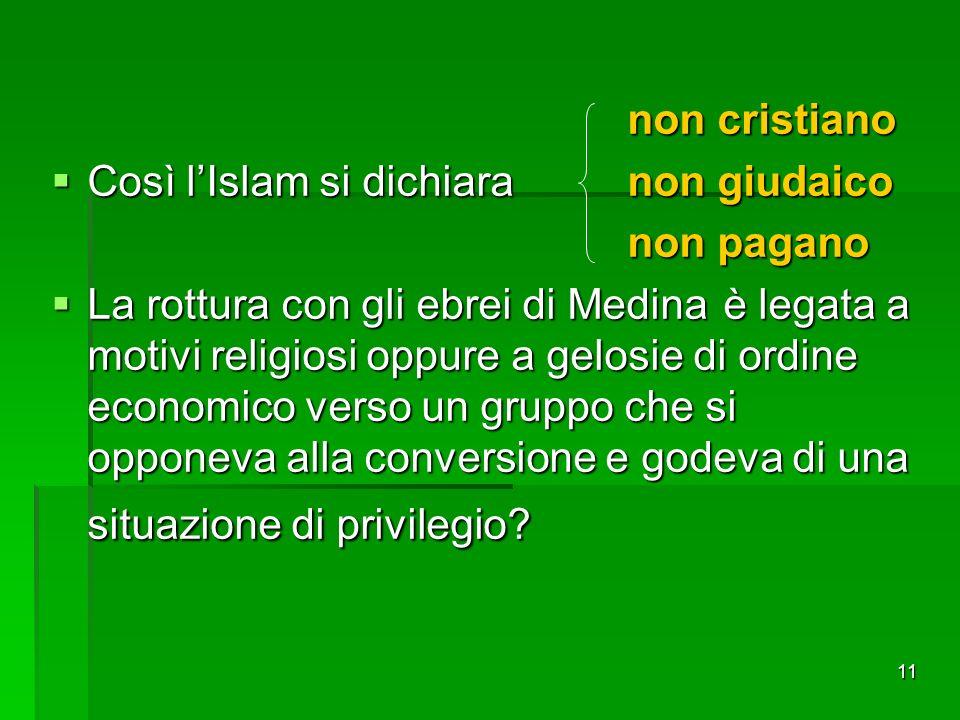 non cristiano Così l'Islam si dichiara non giudaico. non pagano.
