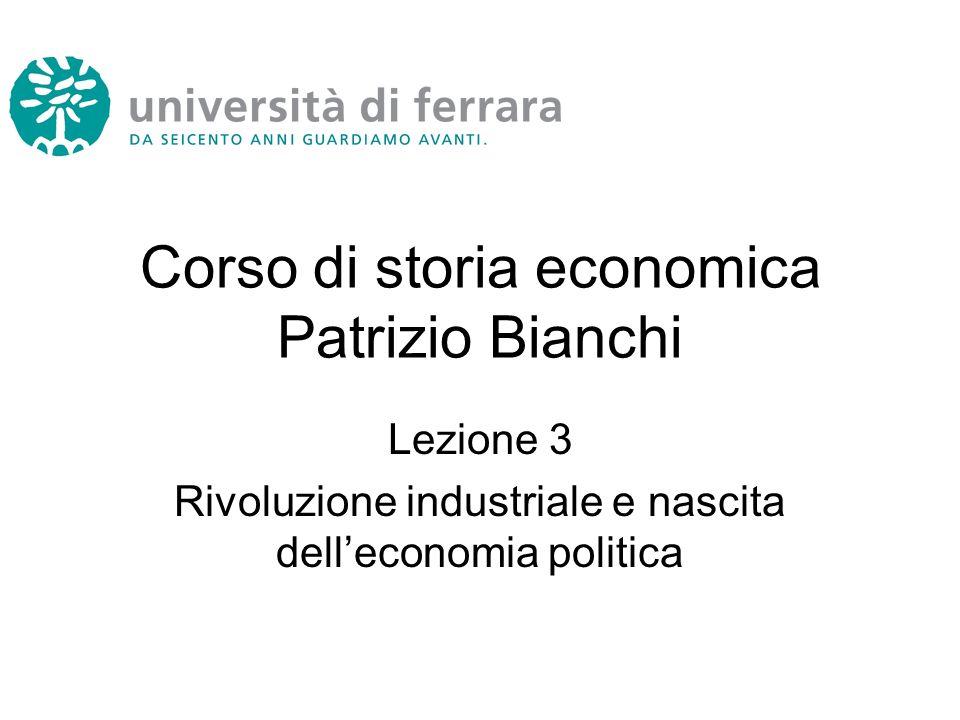 Corso di storia economica Patrizio Bianchi
