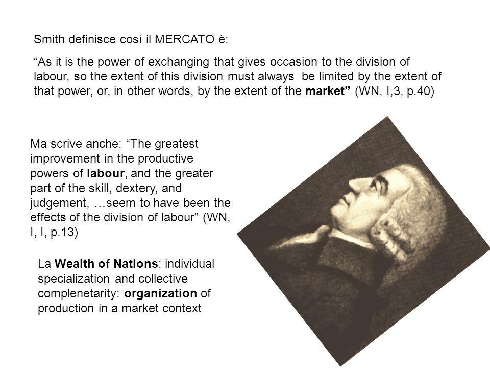 Smith definisce così il MERCATO è: