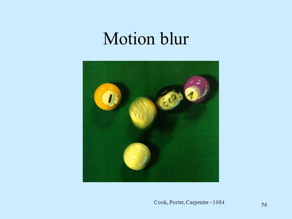Motion blur Cook, Porter, Carpenter - 1984