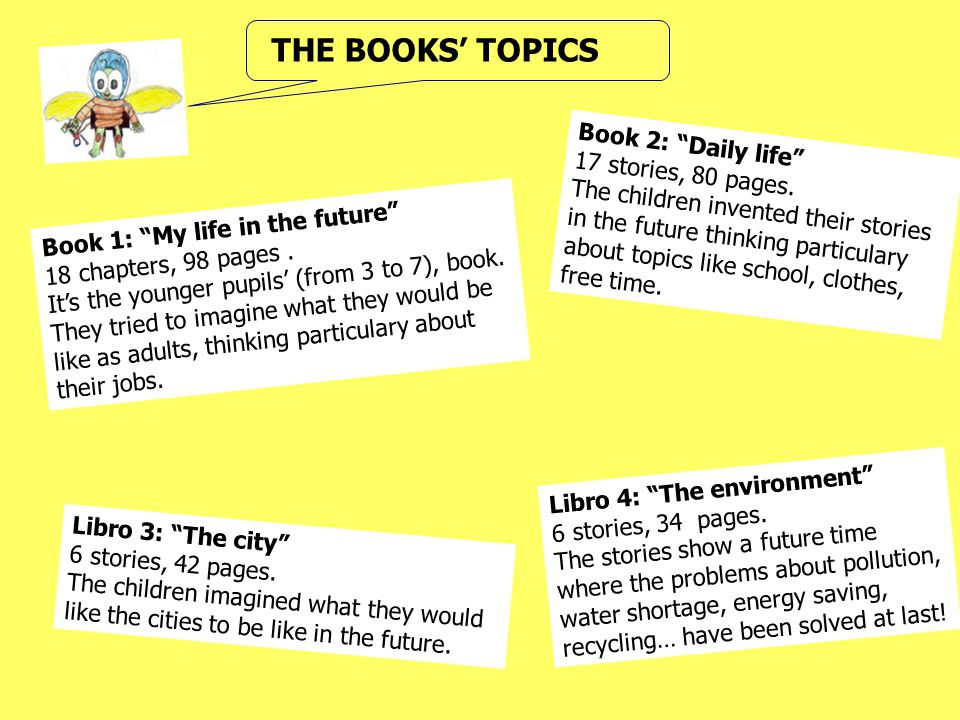 THE BOOKS' TOPICS Book 2: Daily life 17 stories, 80 pages.