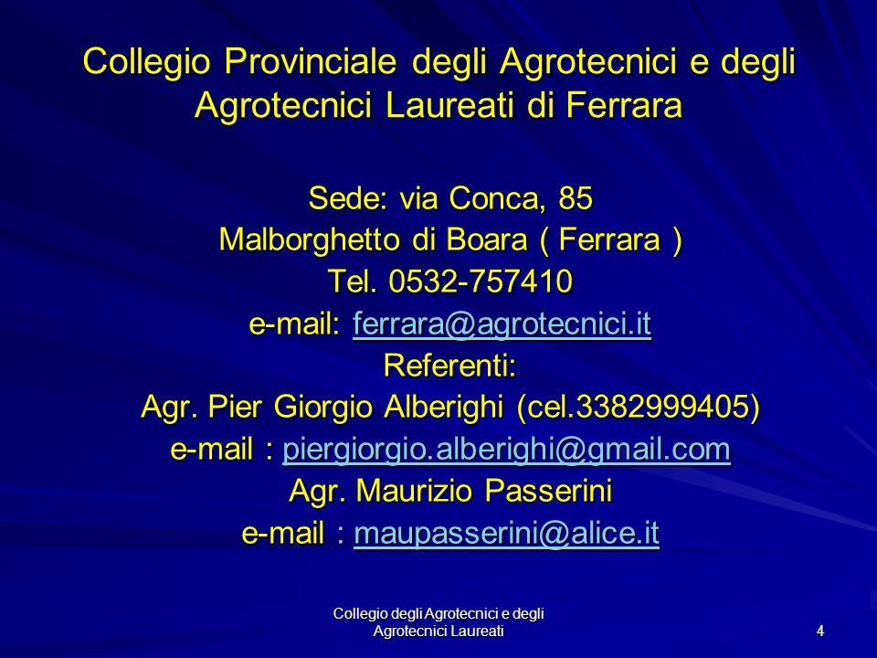 Collegio Provinciale degli Agrotecnici e degli Agrotecnici Laureati di Ferrara