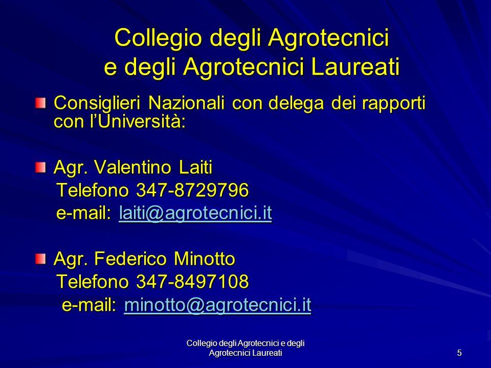 Collegio degli Agrotecnici e degli Agrotecnici Laureati