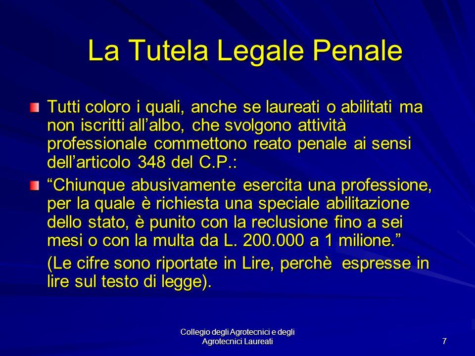 La Tutela Legale Penale