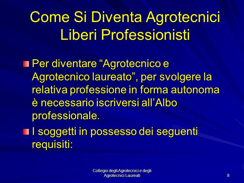 Come Si Diventa Agrotecnici Liberi Professionisti