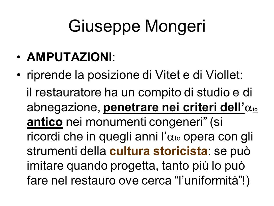 Giuseppe Mongeri AMPUTAZIONI: