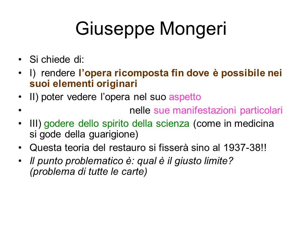 Giuseppe Mongeri Si chiede di: