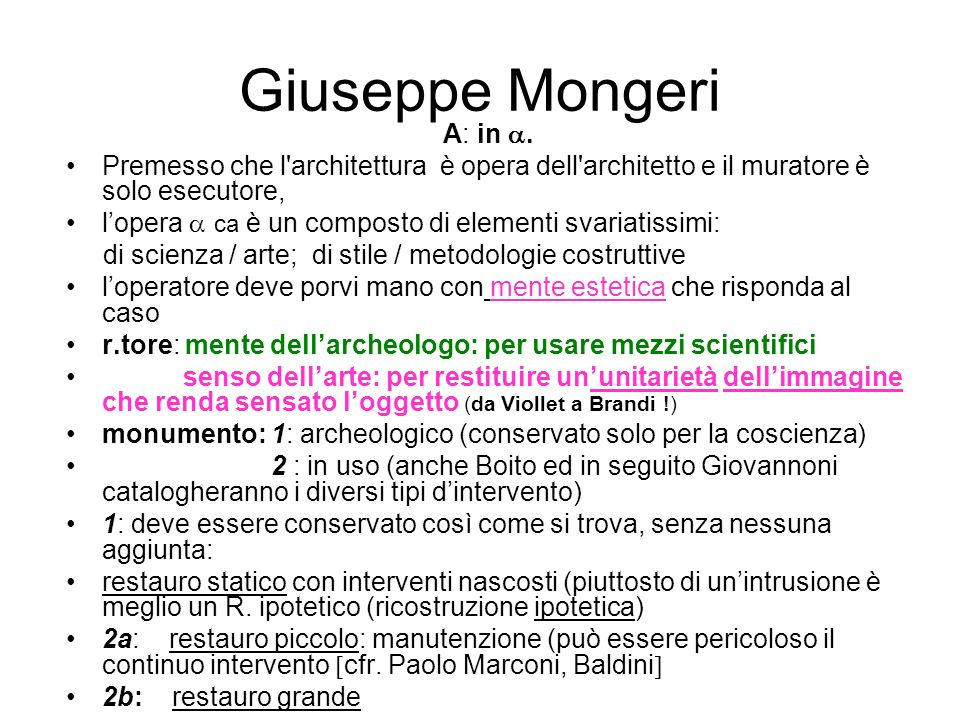 Giuseppe Mongeri A: in .