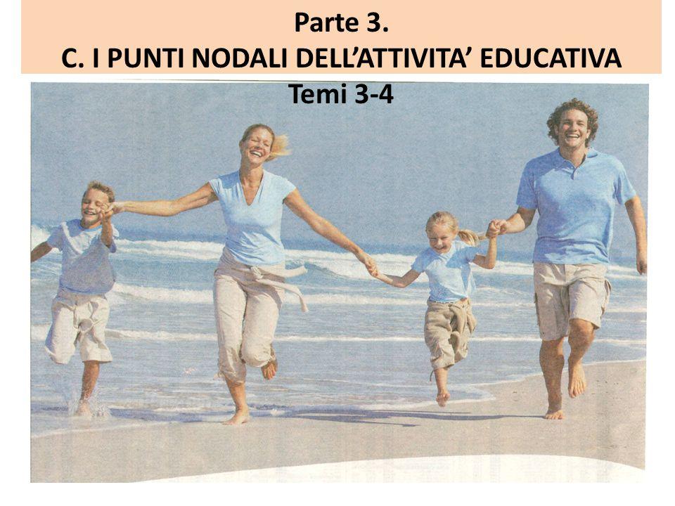 Parte 3. C. I PUNTI NODALI DELL'ATTIVITA' EDUCATIVA