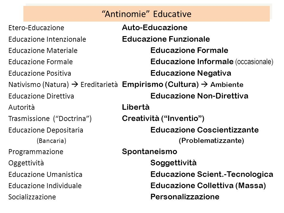 Antinomie Educative