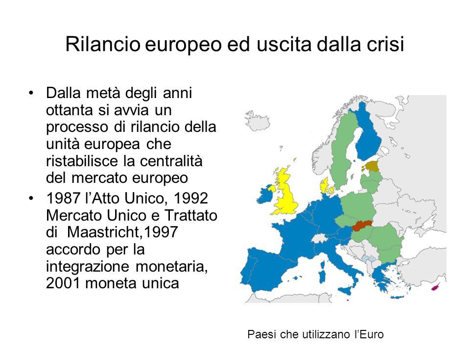 Rilancio europeo ed uscita dalla crisi