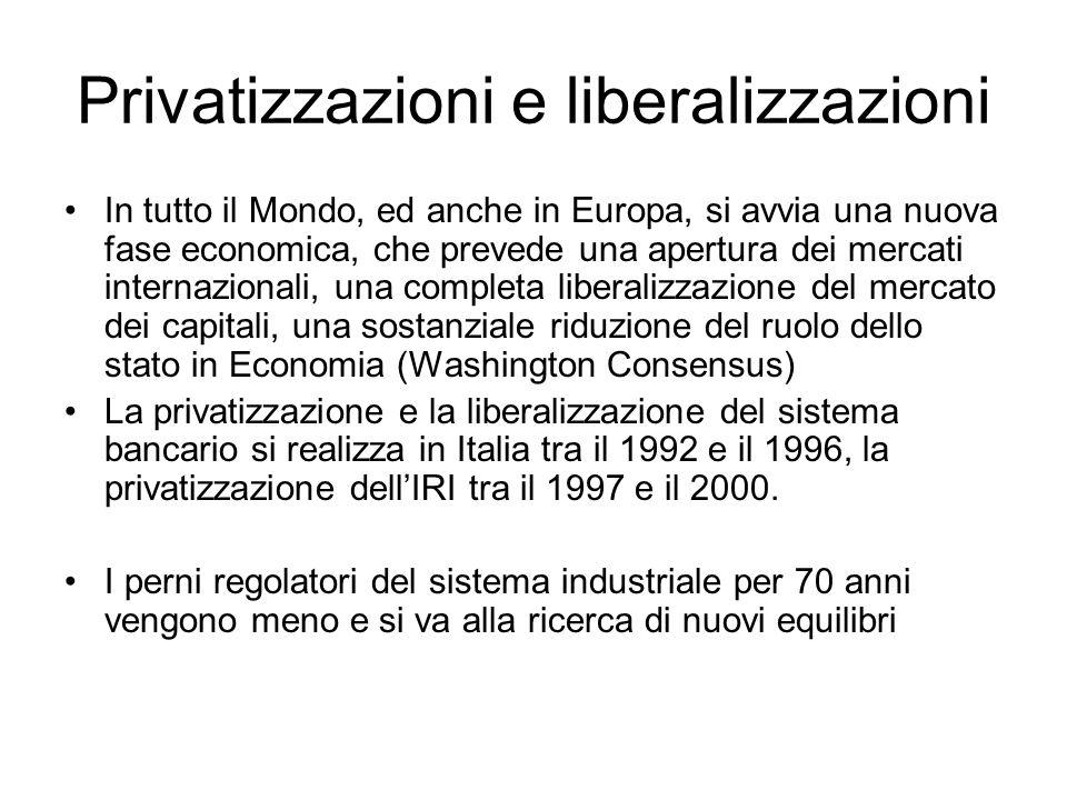 Privatizzazioni e liberalizzazioni