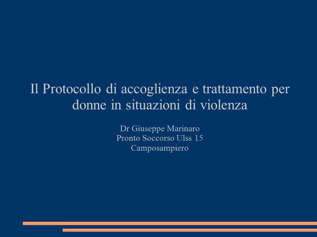 Il Protocollo di accoglienza e trattamento per donne in situazioni di violenza