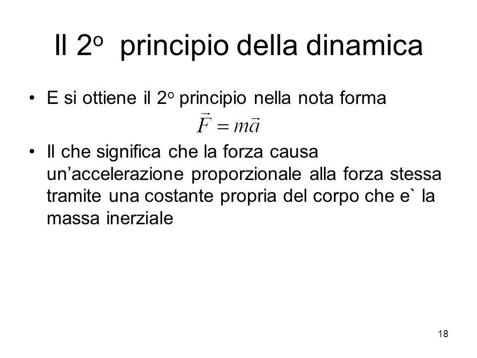 Il 2o principio della dinamica
