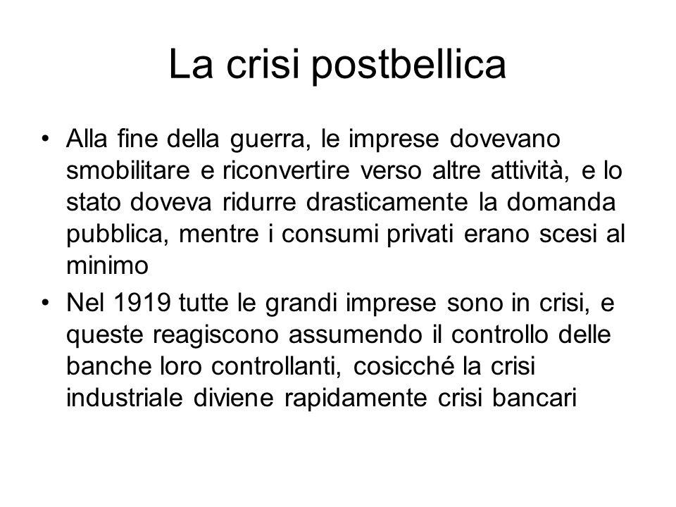 La crisi postbellica