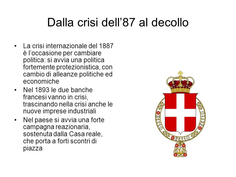 Dalla crisi dell'87 al decollo