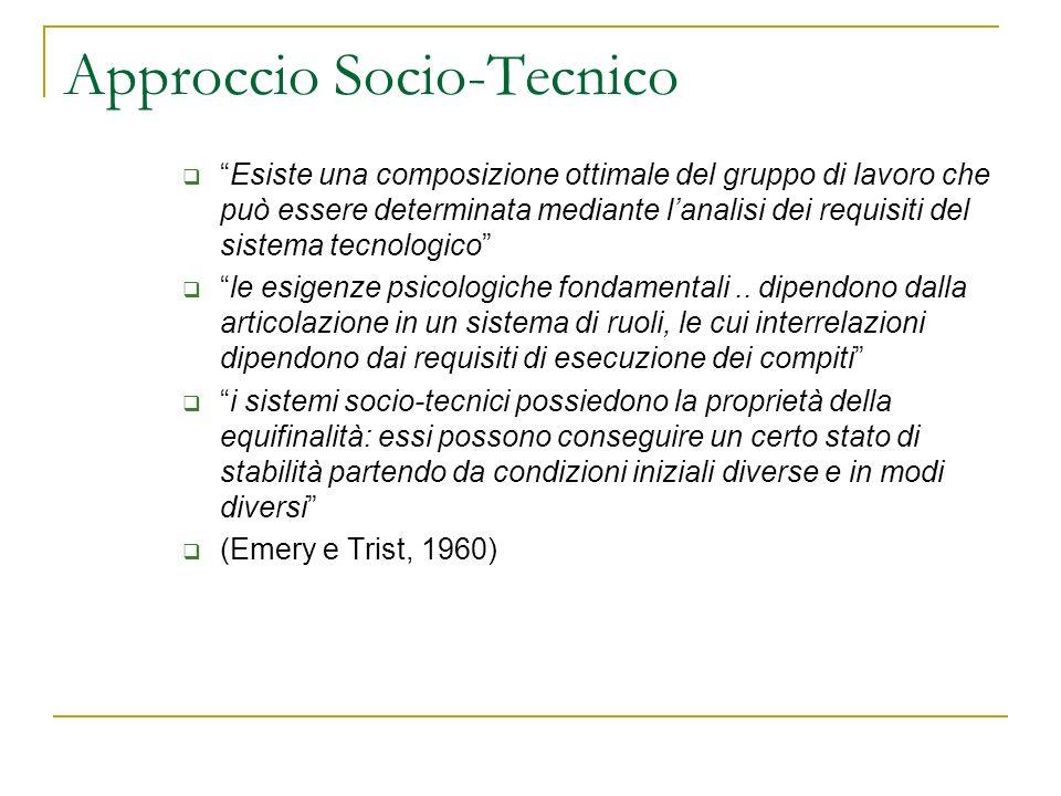 Approccio Socio-Tecnico