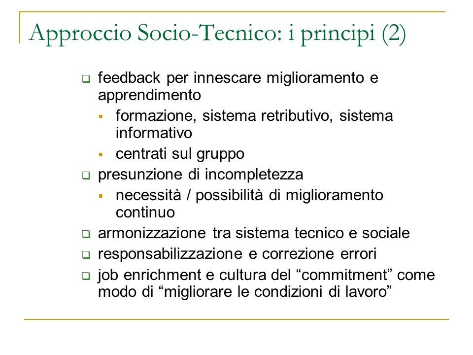 Approccio Socio-Tecnico: i principi (2)