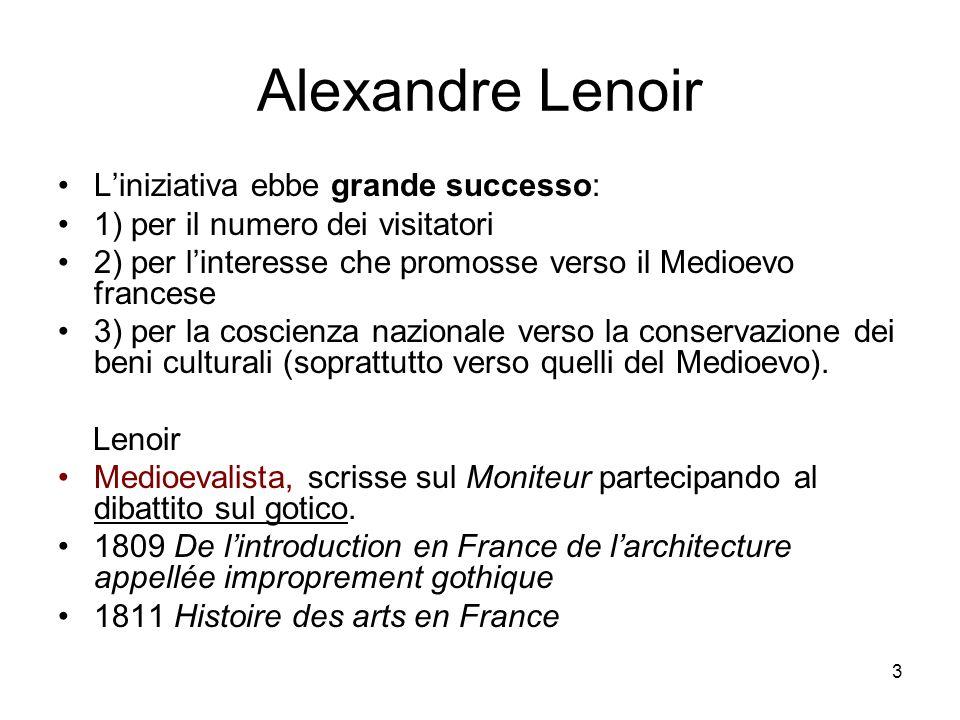 Alexandre Lenoir L'iniziativa ebbe grande successo: