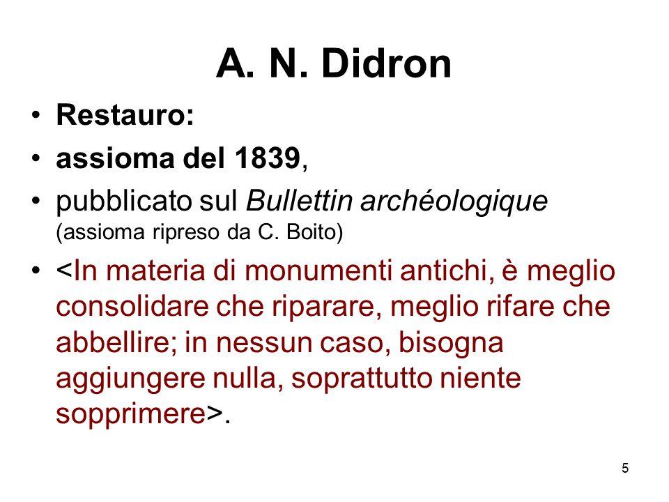 A. N. Didron Restauro: assioma del 1839,