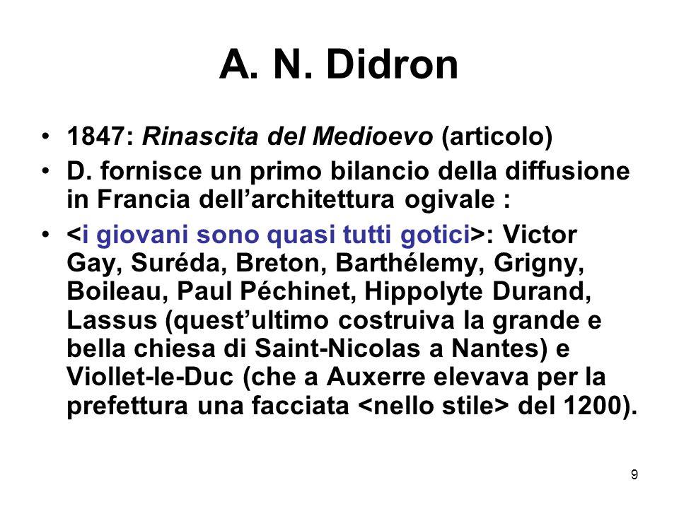 A. N. Didron 1847: Rinascita del Medioevo (articolo)