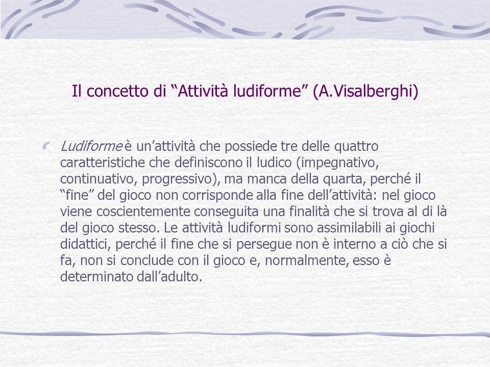 Il concetto di Attività ludiforme (A.Visalberghi)