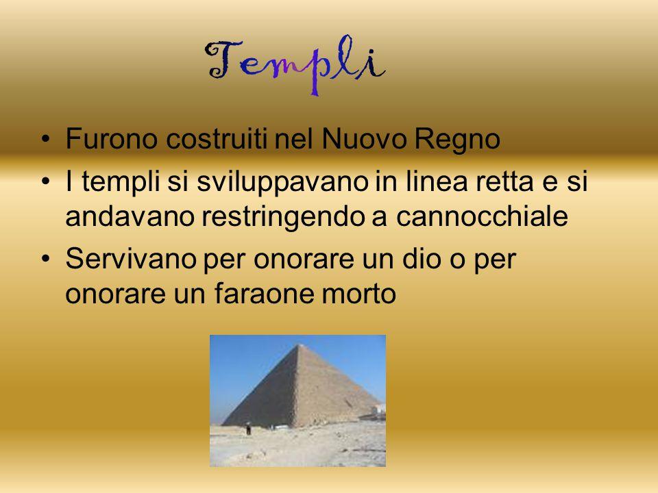 Templi Furono costruiti nel Nuovo Regno