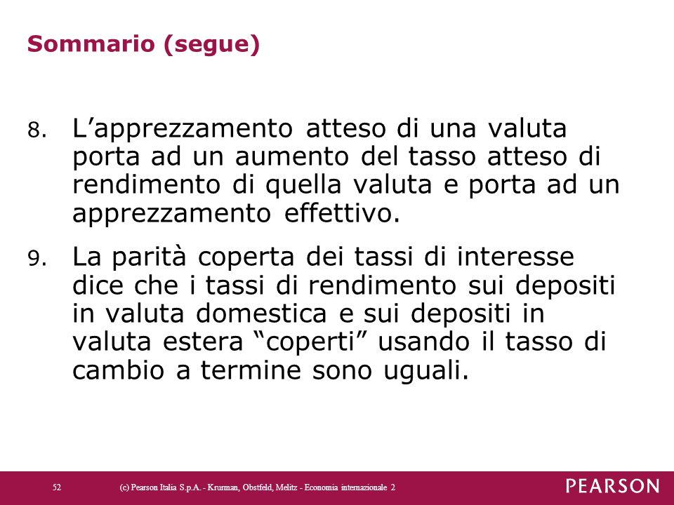 Sommario (segue)