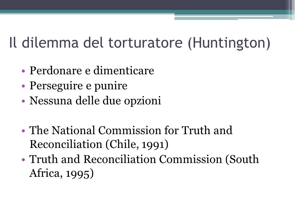 Il dilemma del torturatore (Huntington)