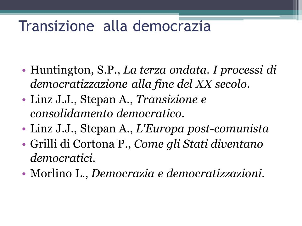 Transizione alla democrazia