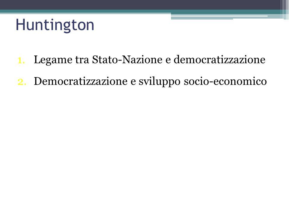 Huntington Legame tra Stato-Nazione e democratizzazione