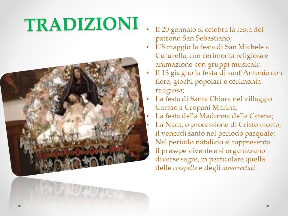 TRADIZIONI Il 20 gennaio si celebra la festa del patrono San Sebastiano;
