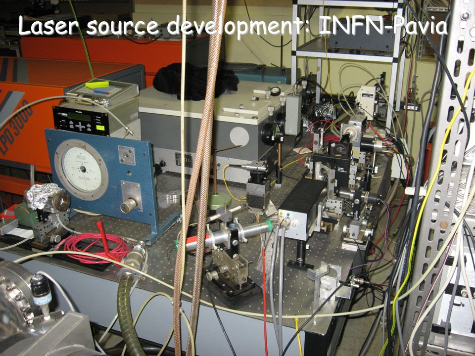 Laser source development: INFN-Pavia