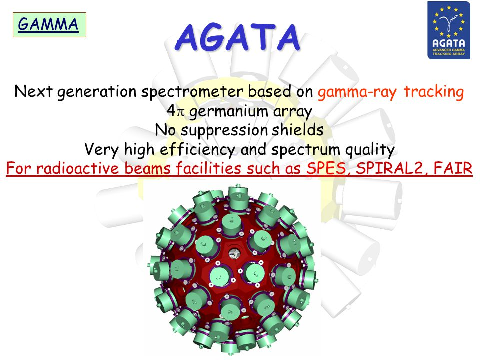 AGATA GAMMA Next generation spectrometer based on gamma-ray tracking