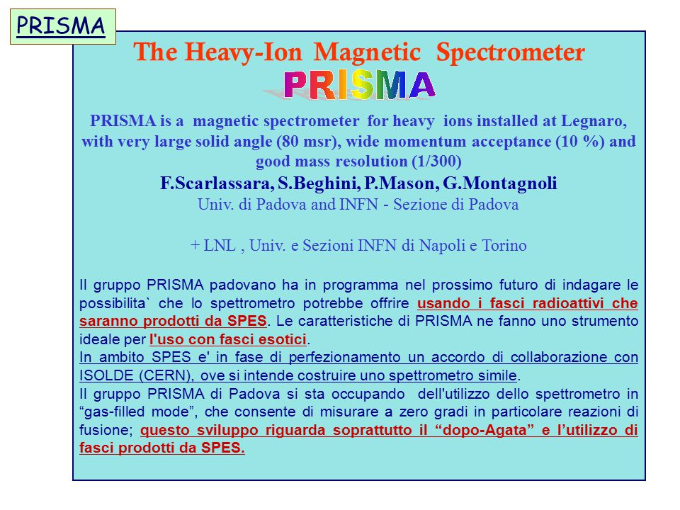 The Heavy-Ion Magnetic Spectrometer