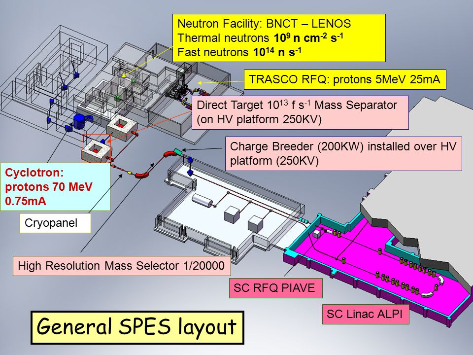 General SPES layout Neutron Facility: BNCT – LENOS