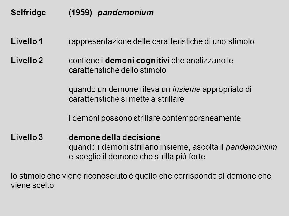 Selfridge (1959) pandemonium