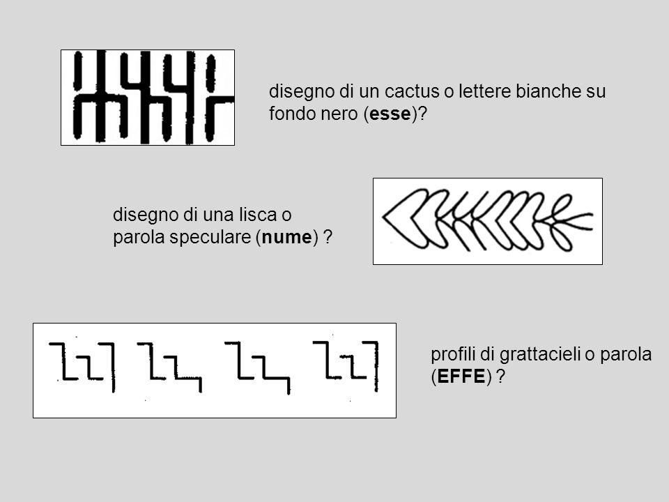 disegno di un cactus o lettere bianche su