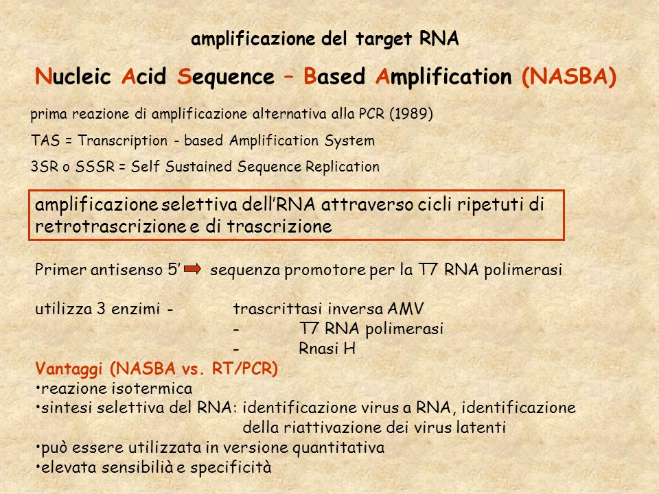 Nucleic Acid Sequence – Based Amplification (NASBA)