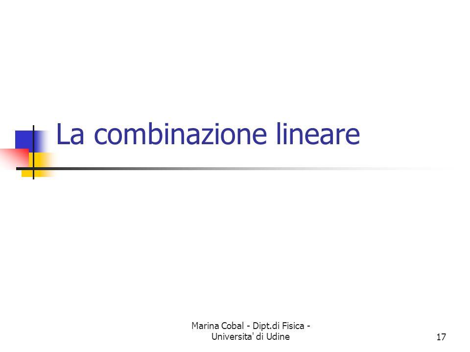 La combinazione lineare