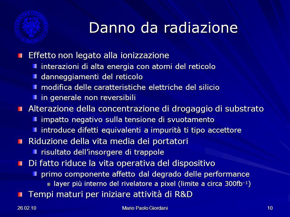 Danno da radiazione Effetto non legato alla ionizzazione